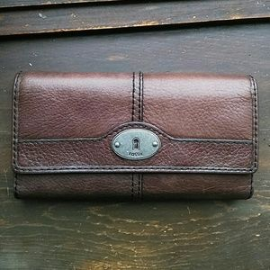 🗝Fossil Maddox Espresso Brown Leather Wallet